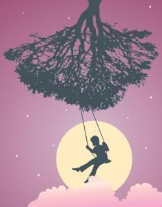 Swinging on tree