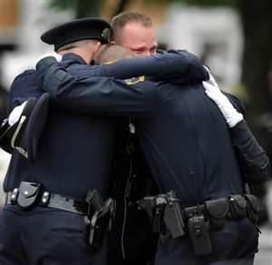 police-hugging