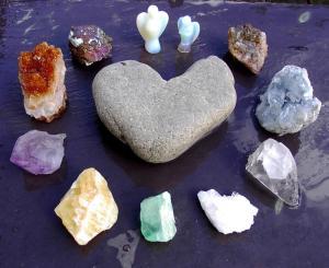 crystal-circle heart