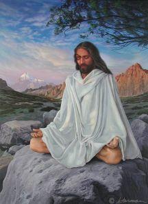 Jesus Meditating