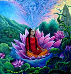 meditation lotus flower
