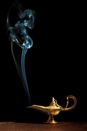 Genie lamp smoke